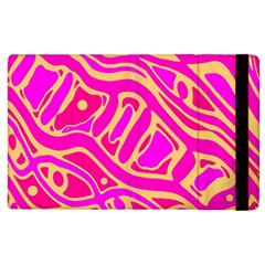 Pink Abstract Art Apple Ipad 3/4 Flip Case by Valentinaart