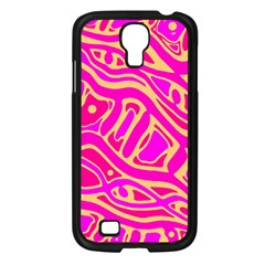 Pink Abstract Art Samsung Galaxy S4 I9500/ I9505 Case (black) by Valentinaart