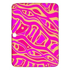 Pink Abstract Art Samsung Galaxy Tab 3 (10 1 ) P5200 Hardshell Case  by Valentinaart