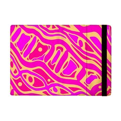 Pink Abstract Art Ipad Mini 2 Flip Cases by Valentinaart