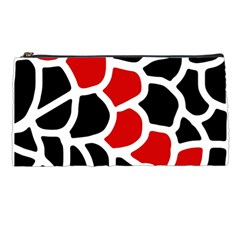 Red, Black And White Abstraction Pencil Cases by Valentinaart