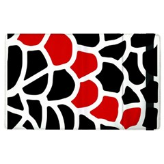 Red, Black And White Abstraction Apple Ipad 2 Flip Case