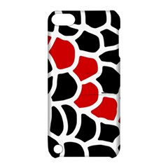 Red, Black And White Abstraction Apple Ipod Touch 5 Hardshell Case With Stand by Valentinaart