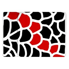 Red, Black And White Abstraction Samsung Galaxy Tab 10 1  P7500 Flip Case by Valentinaart