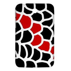 Red, Black And White Abstraction Samsung Galaxy Tab 3 (7 ) P3200 Hardshell Case  by Valentinaart