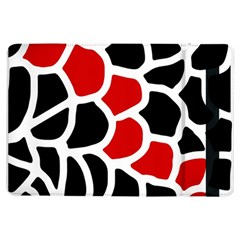 Red, Black And White Abstraction Ipad Air Flip by Valentinaart