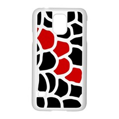 Red, Black And White Abstraction Samsung Galaxy S5 Case (white) by Valentinaart