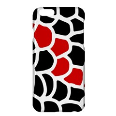 Red, Black And White Abstraction Apple Iphone 6 Plus/6s Plus Hardshell Case by Valentinaart