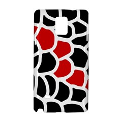 Red, Black And White Abstraction Samsung Galaxy Note 4 Hardshell Case by Valentinaart