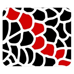 Red, Black And White Abstraction Double Sided Flano Blanket (small)  by Valentinaart