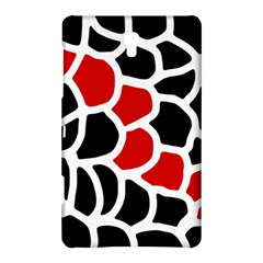Red, Black And White Abstraction Samsung Galaxy Tab S (8 4 ) Hardshell Case  by Valentinaart