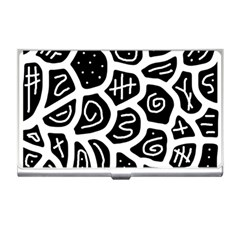 Black And White Playful Design Business Card Holders by Valentinaart