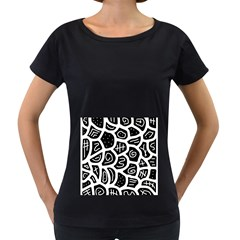 Black and white playful design Women s Loose-Fit T-Shirt (Black) by Valentinaart