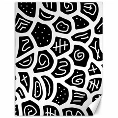Black And White Playful Design Canvas 12  X 16   by Valentinaart