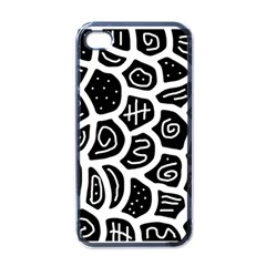 Black And White Playful Design Apple Iphone 4 Case (black) by Valentinaart