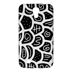 Black And White Playful Design Samsung Galaxy Mega 6 3  I9200 Hardshell Case by Valentinaart