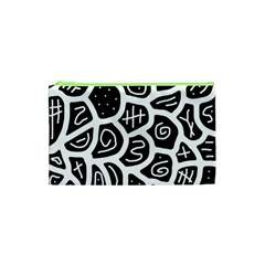 Black And White Playful Design Cosmetic Bag (xs) by Valentinaart