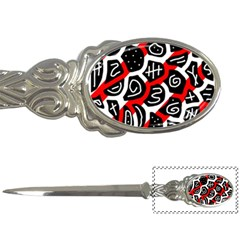 Red Playful Design Letter Openers by Valentinaart
