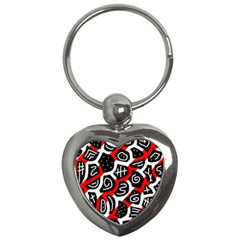 Red Playful Design Key Chains (heart)  by Valentinaart