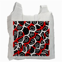 Red Playful Design Recycle Bag (two Side)  by Valentinaart