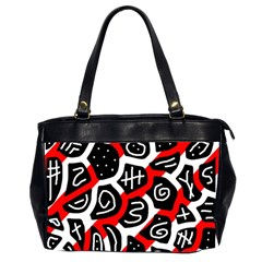 Red Playful Design Office Handbags (2 Sides)  by Valentinaart