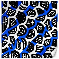 Blue Playful Design Canvas 20  X 20   by Valentinaart