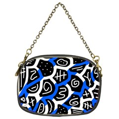Blue Playful Design Chain Purses (one Side)  by Valentinaart
