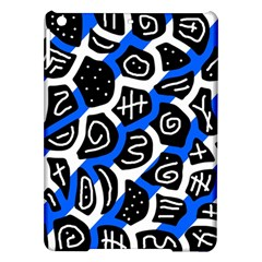Blue Playful Design Ipad Air Hardshell Cases by Valentinaart