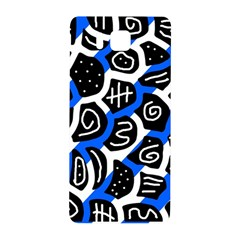 Blue Playful Design Samsung Galaxy Alpha Hardshell Back Case by Valentinaart