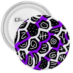 Purple Playful Design 3  Buttons by Valentinaart