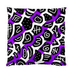 Purple Playful Design Standard Cushion Case (two Sides) by Valentinaart