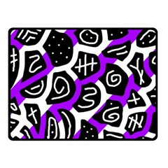 Purple Playful Design Fleece Blanket (small) by Valentinaart