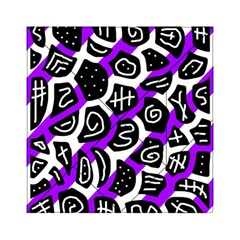 Purple Playful Design Acrylic Tangram Puzzle (6  X 6 ) by Valentinaart