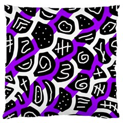Purple Playful Design Large Cushion Case (one Side) by Valentinaart
