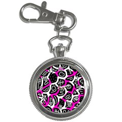 Magenta Playful Design Key Chain Watches by Valentinaart