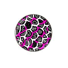 Magenta Playful Design Hat Clip Ball Marker (4 Pack) by Valentinaart