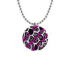 Magenta Playful Design Button Necklaces by Valentinaart
