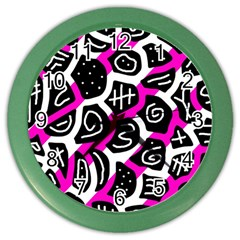 Magenta Playful Design Color Wall Clocks