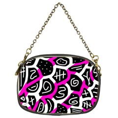 Magenta Playful Design Chain Purses (two Sides)  by Valentinaart