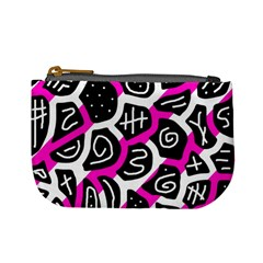 Magenta Playful Design Mini Coin Purses by Valentinaart