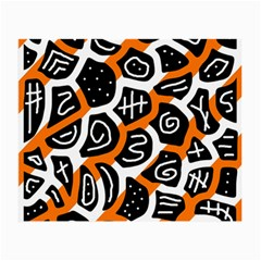 Orange playful design Small Glasses Cloth (2-Side)
