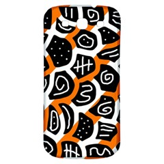 Orange Playful Design Samsung Galaxy S3 S Iii Classic Hardshell Back Case by Valentinaart
