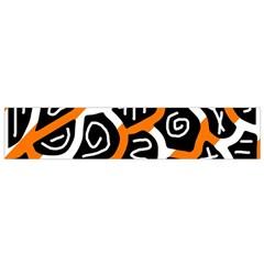 Orange Playful Design Flano Scarf (small) by Valentinaart