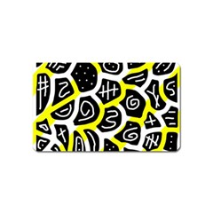 Yellow Playful Design Magnet (name Card) by Valentinaart