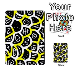Yellow Playful Design Multi Purpose Cards (rectangle)  by Valentinaart