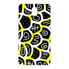 Yellow Playful Design Samsung Galaxy Note 3 N9005 Hardshell Back Case by Valentinaart