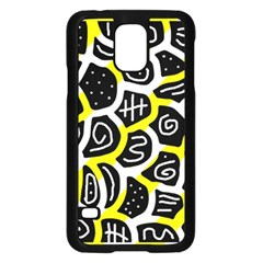 Yellow Playful Design Samsung Galaxy S5 Case (black) by Valentinaart