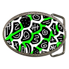 Green Playful Design Belt Buckles by Valentinaart