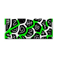 Green Playful Design Hand Towel by Valentinaart