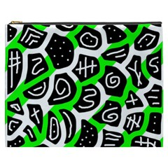 Green Playful Design Cosmetic Bag (xxxl)  by Valentinaart